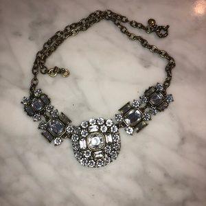 Vintage crystal statement necklace